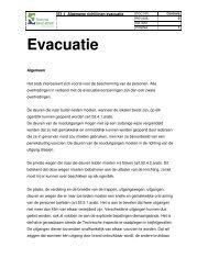 E1.1 Algemene richtlijnen evacuatie
