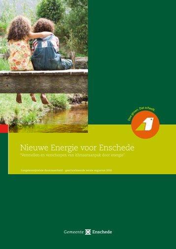 Nieuwe Energie voor Enschede - Bouwstenen voor Sociaal