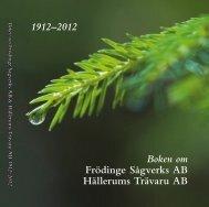 Boken om Frödinge Sågverk Hällerums Trä