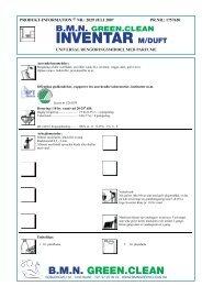 Inventar m/ duft PI - BMN Green Clean