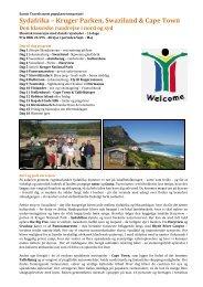 Sydafrika – Kruger Parken, Swaziland & Cape Town - Exotic Travel