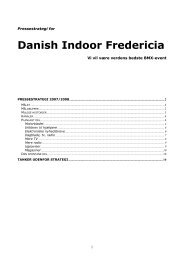 Link til Danish Indoor BMX Fredericias pressestrategi