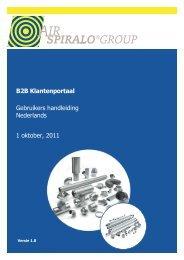 B2B Klantenportaal Gebruikers handleiding ... - Airspiralo.com