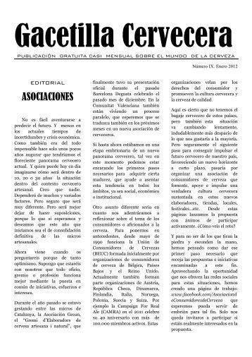 Gacetilla Cervecera IX