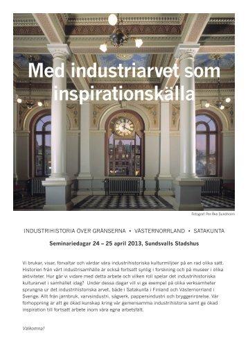 Med industriarvet som inspirationskälla - Pori
