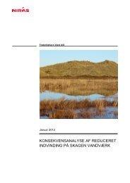 Konsekvensanalyse af reduceret indvinding på Skagen Vandværk