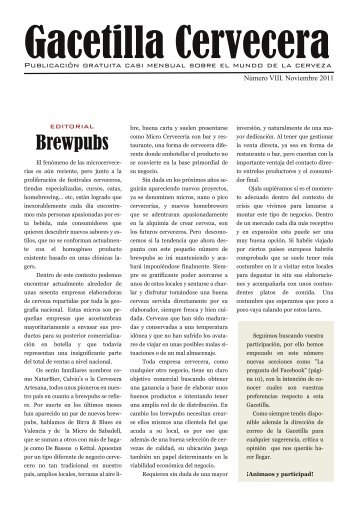 Gacetilla Cervecera VIII