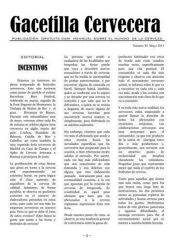 Gacetilla Cervecera XI