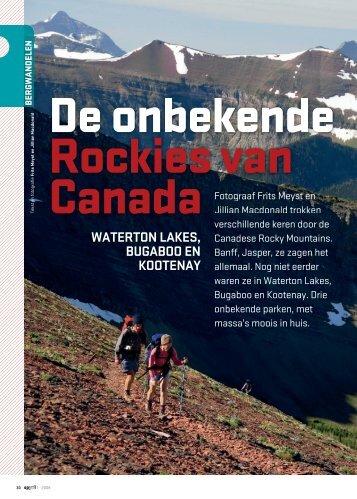 Artikel: Wandelen Canadese Rocky Mountains - Op Pad