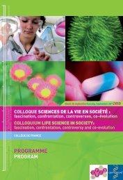 Programme détaillé SdV en societe - Genopole