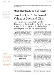 EH 20:1 Worlds Apart: Sexual Values of Boys and Girls - SHEU