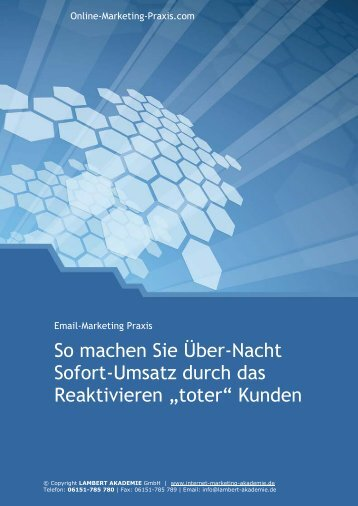 Special Report - LAMBERT Internet-Marketing