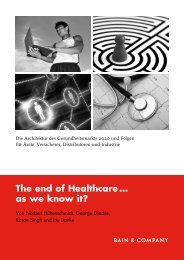 The end of Healthcare... as we know it? - Bain & Company