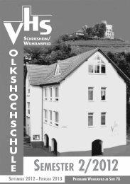 SEMESTER 2/2012 - VHS Schriesheim