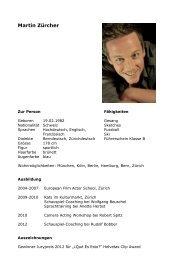 Vita als PDF downloaden - Martin Zürcher
