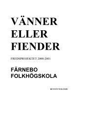 Färnebo fou00.pdf - Pedagogiska Resurser - Folkbildningsnätet