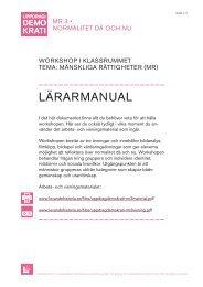 LÄRARMANUAL - Forum för levande historia