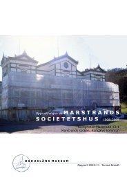 Upprustningen av MARSTRANDSSOC l ETETSHUS 1998-2005