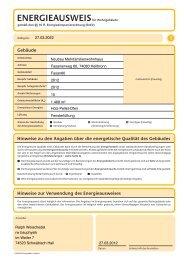 Energieausweis - Bechtle & Widder