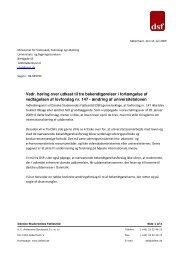 Høringssvar vedr. udkast til ny bekendtgørelse ifm. ændring af ...