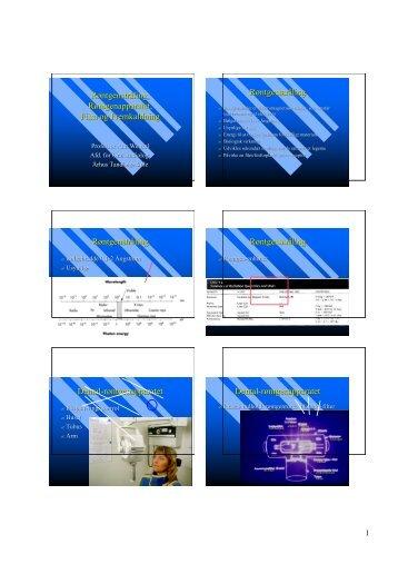 Røntgenstråling, Røntgenapparatet, Film og Fremkaldning ...