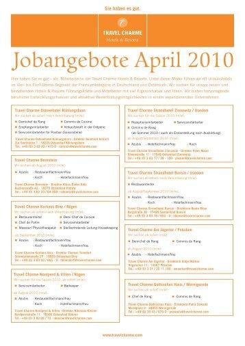 Jobangebote April 2010
