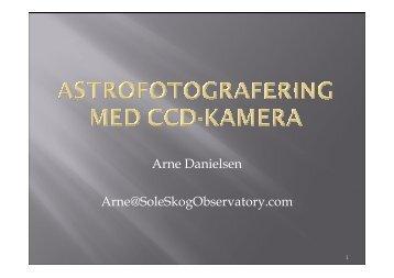 Arne Danielsen Arne@SoleSkogObservatory.com
