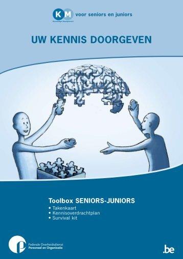Uw kennis doorgeven. Toolbox SENIORS ... - Fedweb - Belgium