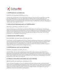 persartikels over Kulturama 2005 - CultuurNet Vlaanderen