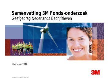 Samenvatting 3M Fonds-onderzoek - CBF