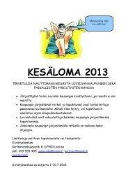 Kesäloma 2013 esite - Loviisa