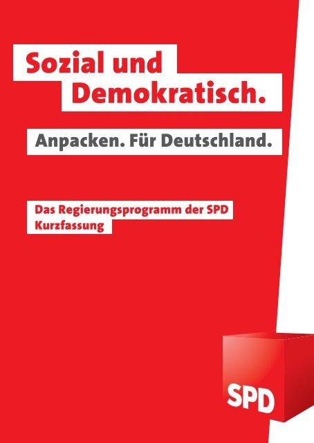 Das Regierungsprogramm der SPD - Policy Network
