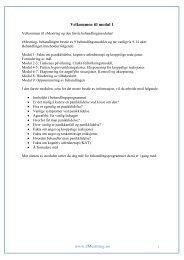 Behandlingsprogram for panikkliding, modul 1 - Helse Bergen