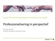 Professionalisering in perspectief - Pensioenfederatie