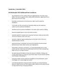 Activiteitenplan 2013 - Komloosduinen