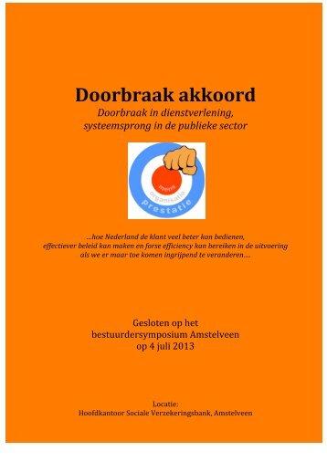 Het akkoord (PDF) - Doorbraak in dienstverlening
