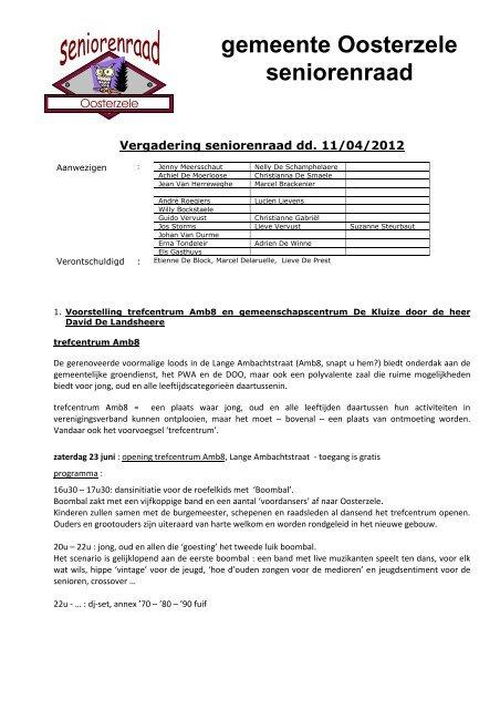 verslag 11 april 2012 - Gemeente Oosterzele