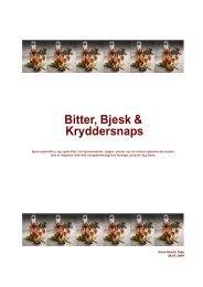 Bitter, Bjesk & Kryddersnaps