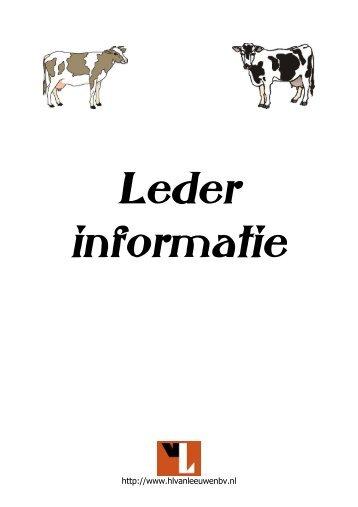 Leder informatie - VAN LEEUWEN LEDER BV