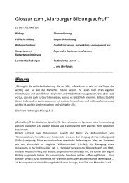 Glossar zum Aufruf - GEW Landesverband Hessen