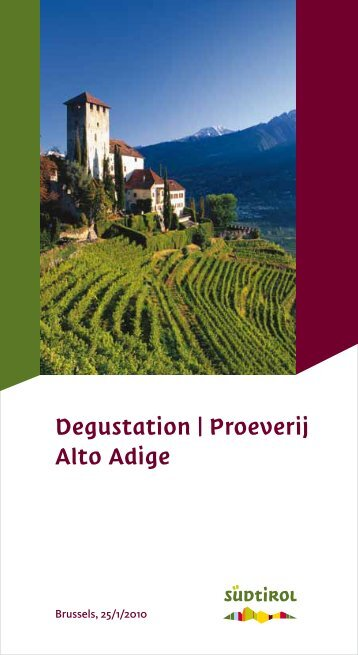 Degustation | Proeverij Alto Adige