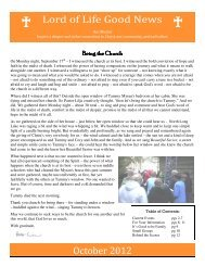October 2012 Newsletter - Lord of Life Lutheran Church