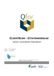 Volledige verslag - Senior Consultants Vlaanderen