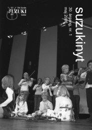 suzukinyt 30. årgang, nr. 1 maj 2006 - Det Danske Suzuki Instituts