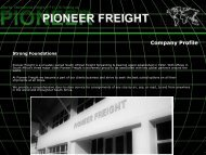 to download complete company profile information ... - Pioneer Freight