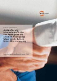 Informationspflichten des Arbeitgebers - Raymann Versicherungen