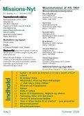 Missions-Nyt nr. 2 - 2008 med billeder - Missionsfonden - Page 2
