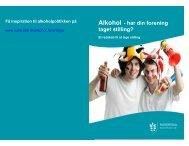 Folder Alkohol i foreningslivet - Kulturparaplyen Rudersdal