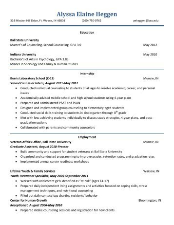 view my resume