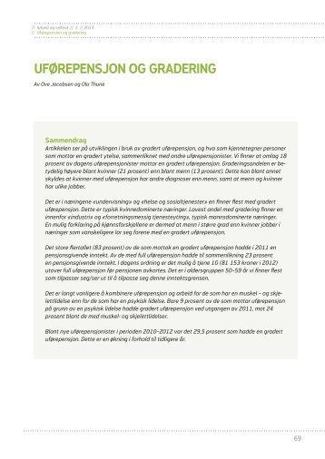 Uførepensjon og gradering (pdf) - Nav